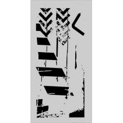 Šablona Cadence Mix Media - šipky, pruhy