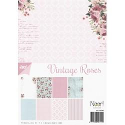 Sada papírů A4 Vintage Roses