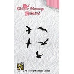 Transp.razítka Mini - ptáci (Nellie Snellen)