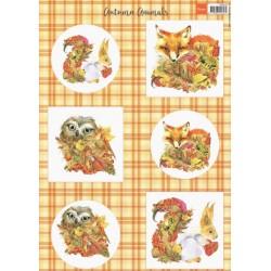 Papír A4 Zvířátka na podzim