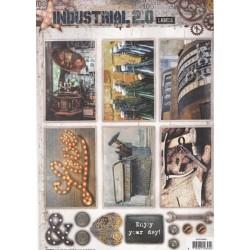 Papírové výseky A4 - Industrial 2.0, Nr.609 (SL)