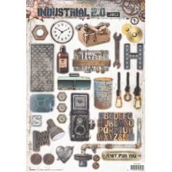 Papírové výseky A4 - Industrial 2.0, Nr.615 (SL)