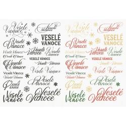 Papír rýžový A4 Nápisy Veselé Vánoce