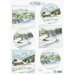 Papír Tiny´s Zimní krajina 1, A4