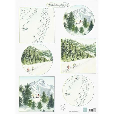 Papír Tiny´s Zimní krajina 2, A4