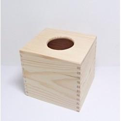 Dřevěná krabička na kapesníky čtvercová - typ 1 (z masivu)