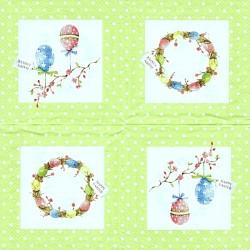 Velikonoční s věncem a větvičkou s vajíčky 33x33