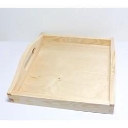 Podnos dřevěný čtvercový 24x24