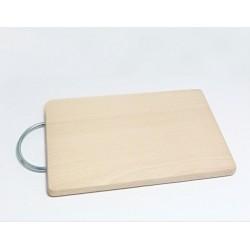 Dřevěné prkénko s kovovým držákem