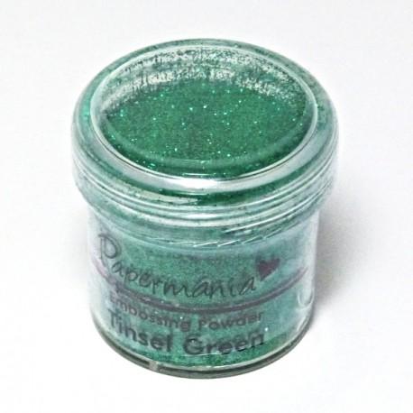 Prášek na embossing 28g zelený třpytivý