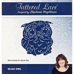 Vyřezávací šablona Tattered Lace - Sovička