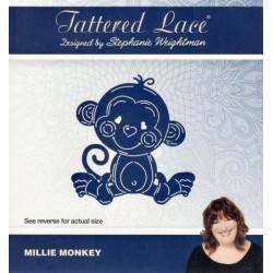 Vyřezávací šablona Tattered Lace - Opička