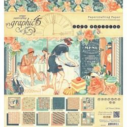 Sada papírů 20x20 Café Parisian (Graphic45)