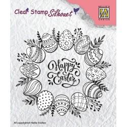 Transp.razítko Veselé Velikonoce (Nellie´s Choice)