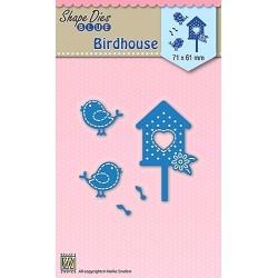 Vyřezávací šablony - Ptačí budka, ptáčci (Nellie´s Choice)