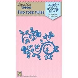 Vyřezávací šablony - Dvě větvičky růží Shape Dies