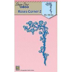 Vyřezávací šablona - Roh z růží Shape Dies