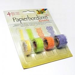 Papírové bordury Butterfly - samolepící, 4 druhy