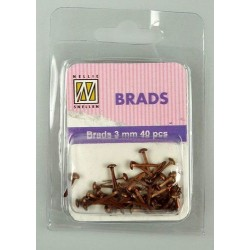 Brads 3mm, 40ks - copper (Nellie´s Choice)