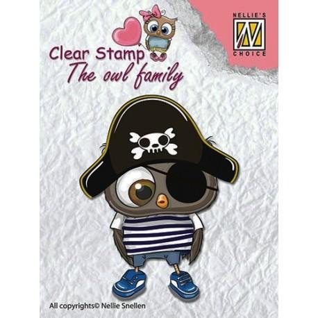 Transp.razítko Soví rodina, pirát (Nellie´s Choice)