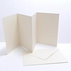 Leporelo (přáníčko) s obálkou, bílé