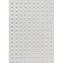 Kamínky perličky 2mm, samolepící perleťově bílé