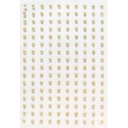 Kamínky perličky 2mm, samolepící zlaté