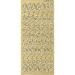 Samolepky číslice 2cm zlaté