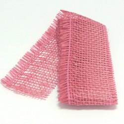 Stuha juta 5cmx2m růžová