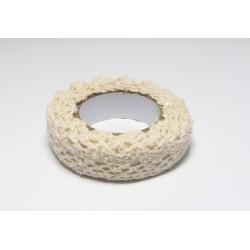 Samolepící krajka textilní - béžová, 16mm, 1,8m