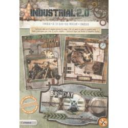 3D blok s výseky - Industrial nr.58, vel.A4 (SL)