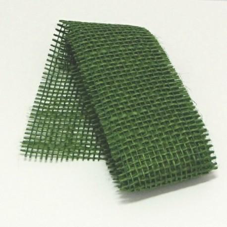 Stuha juta 5cmx2m zelená