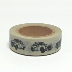 Papírová páska 15mm/10m - auta veteráni