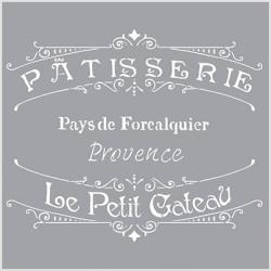 Šablona - Patisserie 30,5x30,5cm