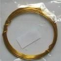 Drátek 1mm zlatý 4m