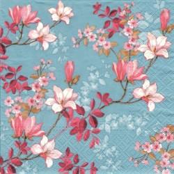 Magnolie na tyrkysové 33x33