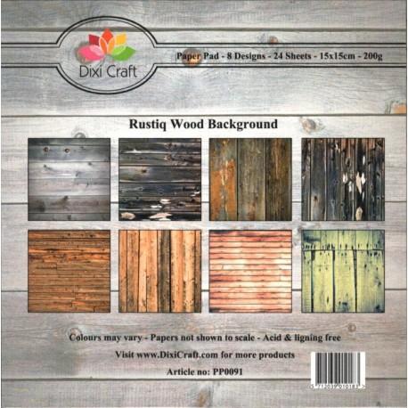 Sada papírů 15x15 Rustikální dřevo (Dixi Craft)