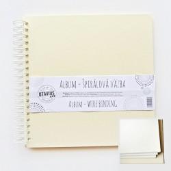 Album se spirálou 25x25cm/10 listů, krémová barva