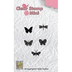 Transp.razítka Mini - motýlci (Nellie Snellen)