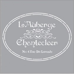 Šablona - L'Auberge 30,5x30,5cm