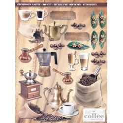 Papírové výseky - Káva
