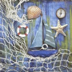 Mořské dekorace 33x33
