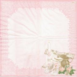 Křest, růžový 33x33
