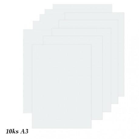 Sada 10ks pauzovacích papírů 150g, A3 - průhledná přírodní
