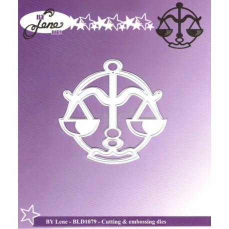 Vyřezávací šablona Horoskop - váhy