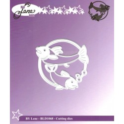 Vyřezávací šablona Horoskop - ryby