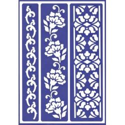 Šablona D101 - Květinové bordury
