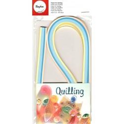 Set quillingových proužků 3mm - modrožluté