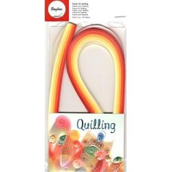 Set quillingových proužků 3mm - červenožluté