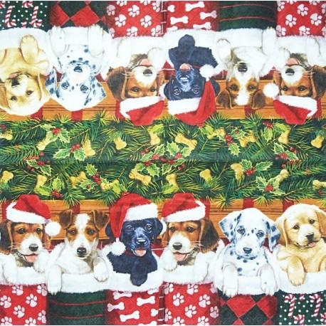 Vánoční s pejsky 33x33